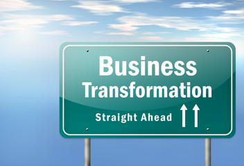 "Highway Signpost ""Business Transformation"""