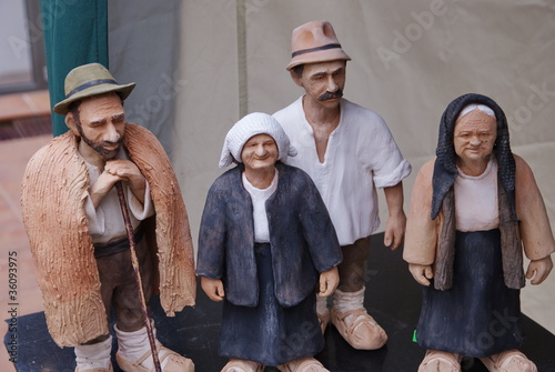 group of farmers of terracotta