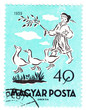 stamp printed in Hungary shows pic from tale