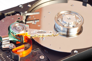 Hard Disk Drive with water drops