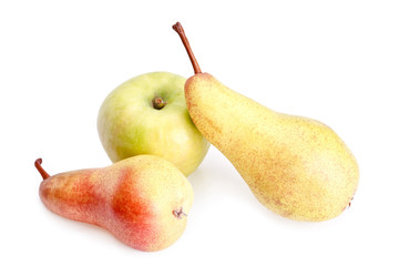 Ripe apple and pears