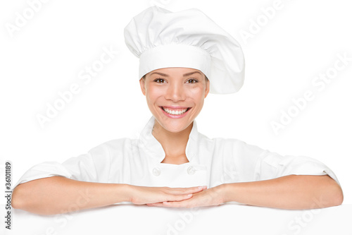 Chef sign blank