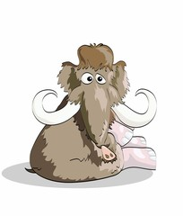 mammoth sits