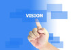 hand pushing vision button