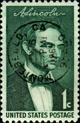 A Lincoln. United States Postage. 1 C.