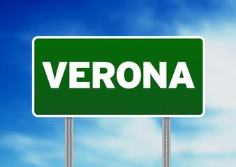 Green Road Sign - Verona, Italy
