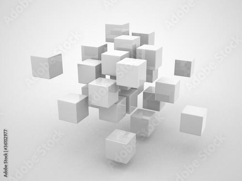 Streszczenie geometryczne kształty z kostki