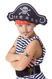 The kid wearing in pirate costume