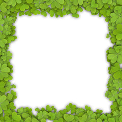 Frame made of clover.