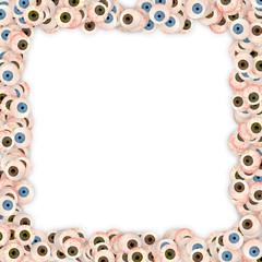 Frame made of eyes.