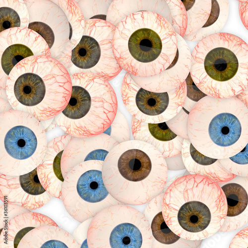 Abstract background made of eyes.