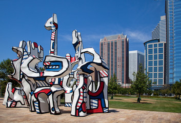 Modern sculpture in Houston