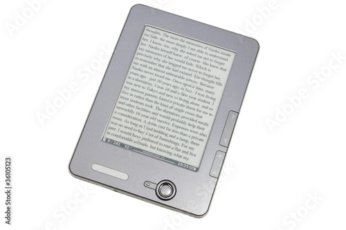 eReader on the white
