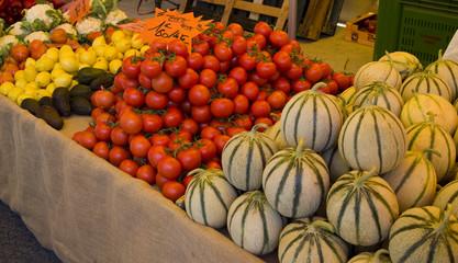Melonen am Markt