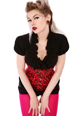 Pin-up girl in corset
