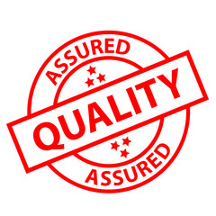 """QUALITY ASSURED"" Stamp (reliability guarantee satisfaction)"