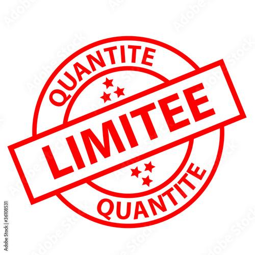 """Tampon """"QUANTITE LIMITEE"""" (offre spéciale stock soldes rouge)"""