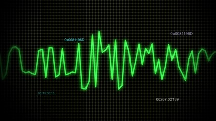 audio wave green line