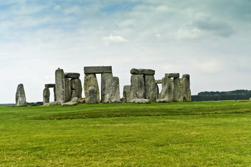 Stonehenge an ancient prehistoric stone monument, Salisbury, UK