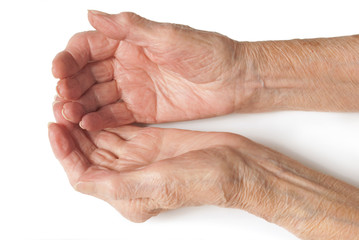 Old Lady's hands open
