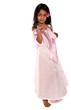 jolie fillette réunionnaise en robe rose