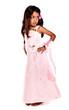 enfant réunionnaise à la robe rose