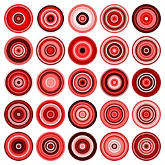 25 colored circles. EPS vector files.