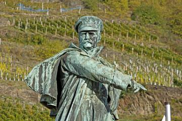 Blücherdenkmal in Kaub am Rhein (Rheinland-Pfalz)