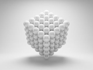 Abstract geometric shapes from array balls