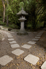 Square stone crossroads whit a monument