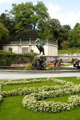 Pegasus Fountain in Mirabell Gardens Salzburg Austria