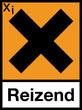 Gefahrstoffzeichen Reizende Stoffe X Etikett Symbol