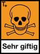 Gefahrstoffzeichen Sehr giftige Stoffe Etiketten Signal Symbol
