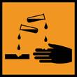 Gefahrstoffzeichen Ätzend Säure Symbol Schild Gefahrgut