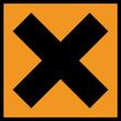 Gefahrstoffzeichen Reizende Gesundheitsschädliche Stoffe Symbol