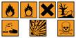 Gefahrstoffzeichen Set Gefahrgut Schilder Etiketten