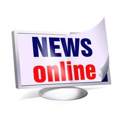 news online newsletter pc monitor smartphone