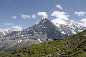 North Face of the Eiger above the Mannlichen footpath