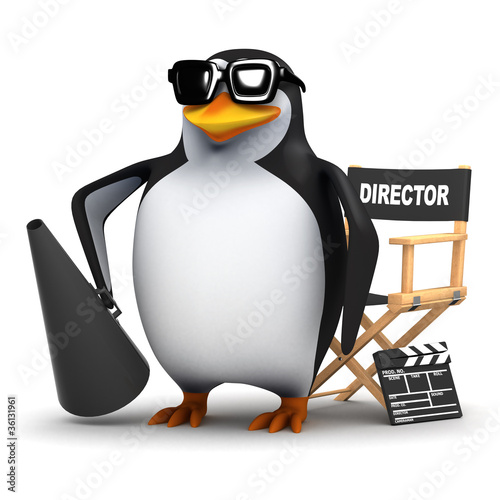 3d Penguin film maker