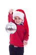 santa kid and disco ball