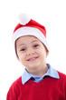 boy as Santa Claus
