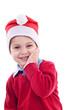 Young festive boy