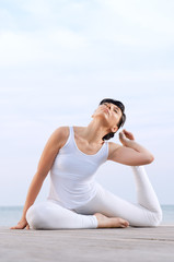 Flexible and healthy woman