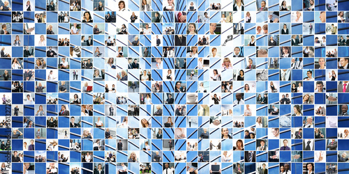 Great business collage made of 225 different images
