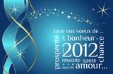Fototapety Carte de voeux nouvelle année 2012