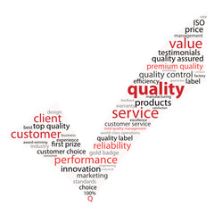 """QUALITY"" Tag Cloud (tick guarantee service satisfaction)"