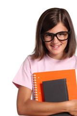 studentessa con occhiali