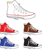 Sneakers (gumshoes) - vector illustration poster