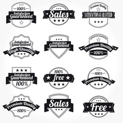 Premium high Quality sales free Labels with retro design