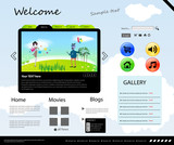 Vector Website Modern Design Template